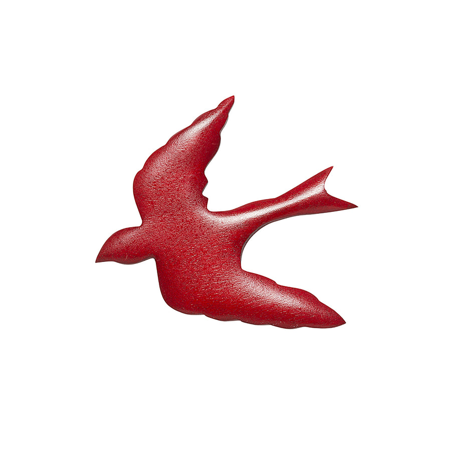Red Swallow Brooch