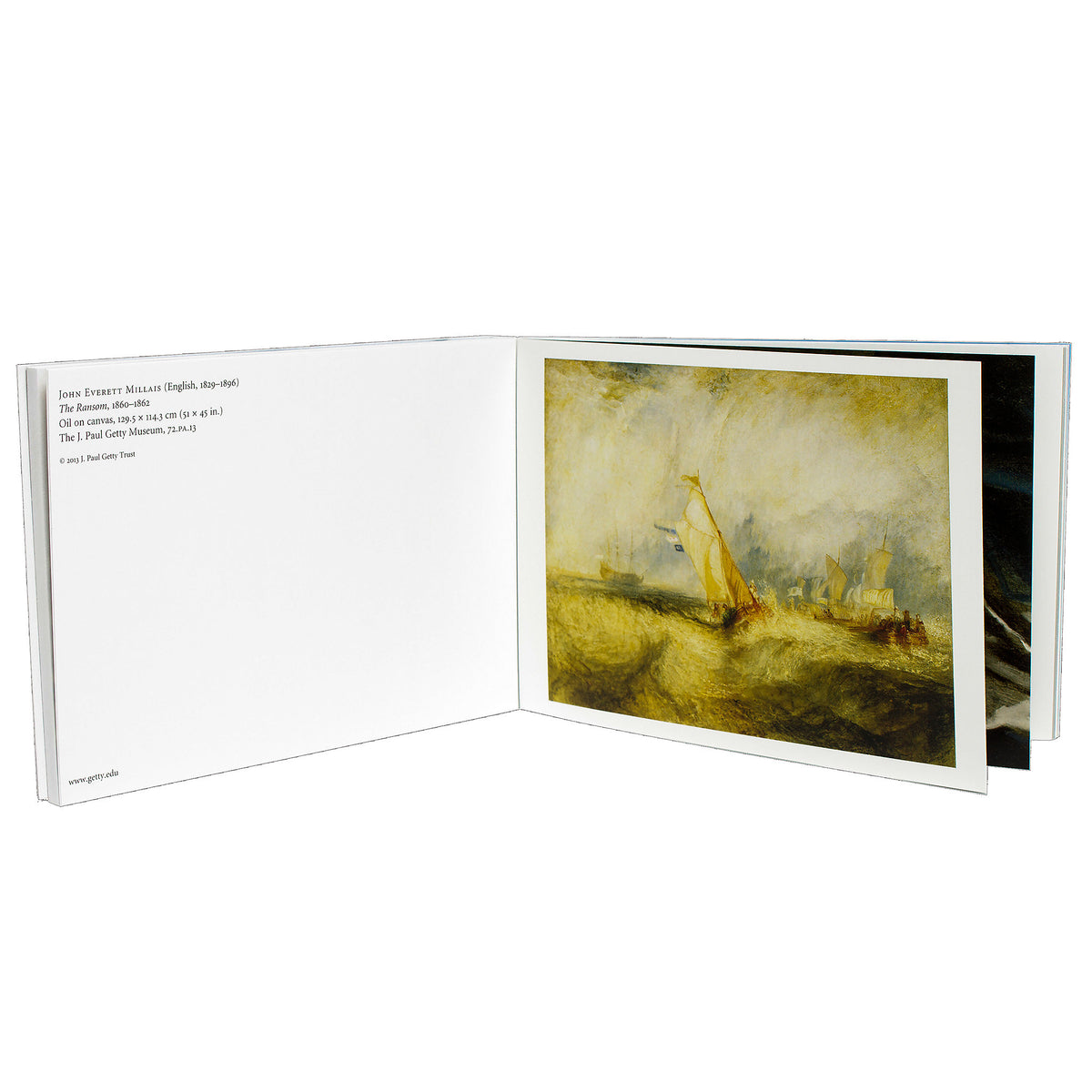Nineteenth-Century European Paintings Postcard Book- Open View | Getty Store