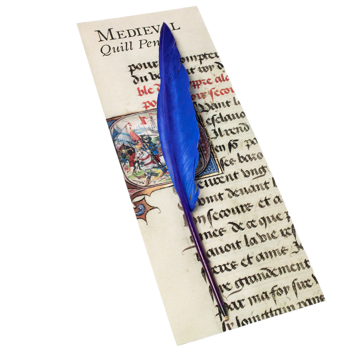 Ballpoint Feather Quill Pen-Initial Q-Blue | Getty Store