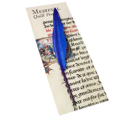 Ballpoint Feather Quill Pen - Initial Q