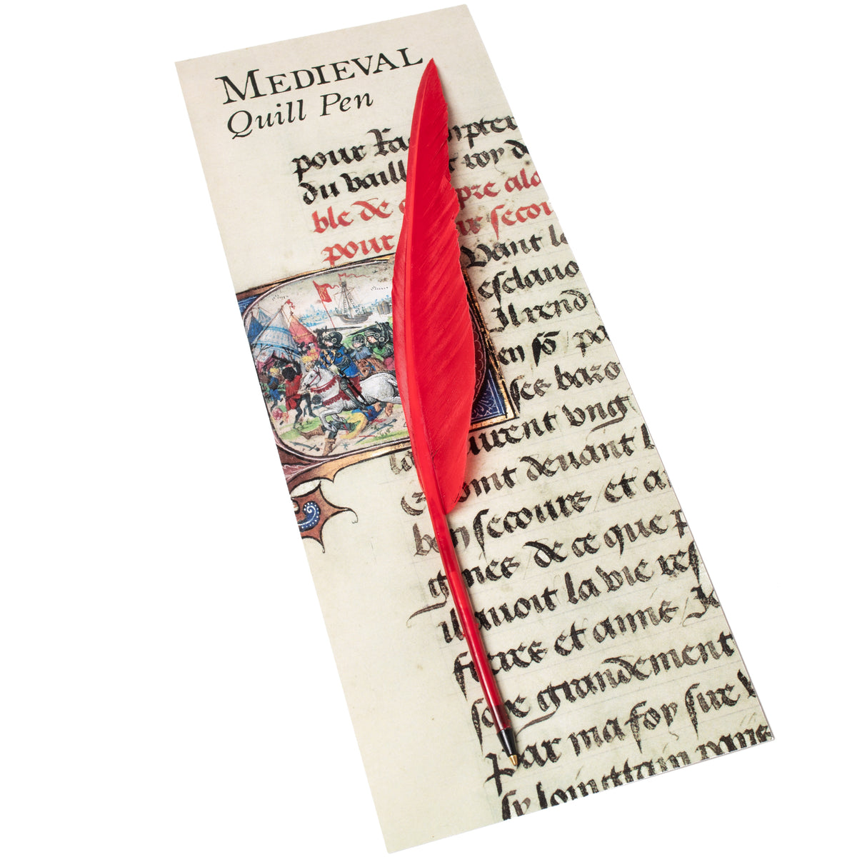 Ballpoint Feather Quill Pen-Initial Q-Red | Getty Store