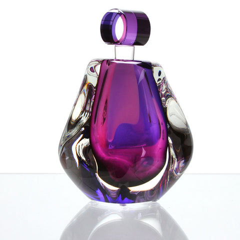Hand Blown Perfume Bottle - Lilac - Harrie Art Glass