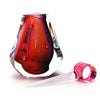 Hand Blown Perfume Bottle - Pink/Red - Harrie Art Glass