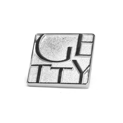 Getty Wordmark Collector Pin - Gold or Silver