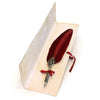 Feather Quill Pen - Burgundy