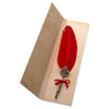 Fleur-de-lys Feather Calligraphy Pen - Red