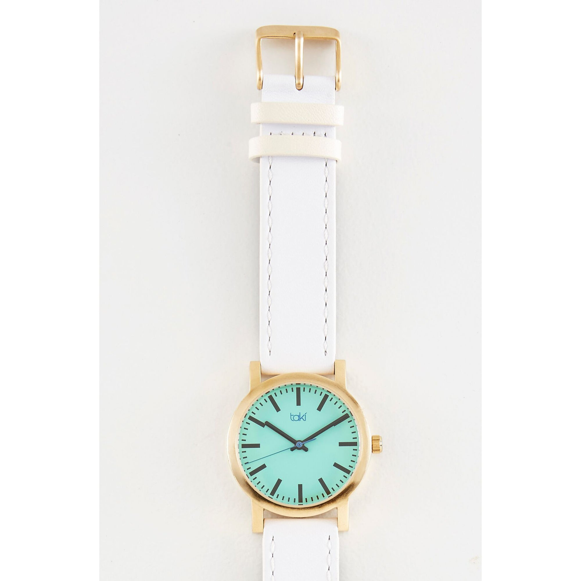 White/Turquoise Leather Watch | Getty Store