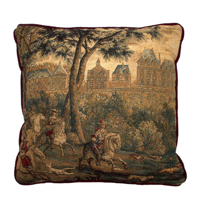 Chateau of Monceaux/Month of December - Tapestry Pillow