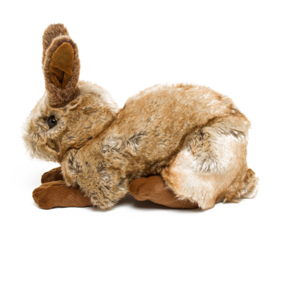 Plush Bunny Inspired by A Hare in the Forest by Hans Hoffmann- Side View  | Getty Store