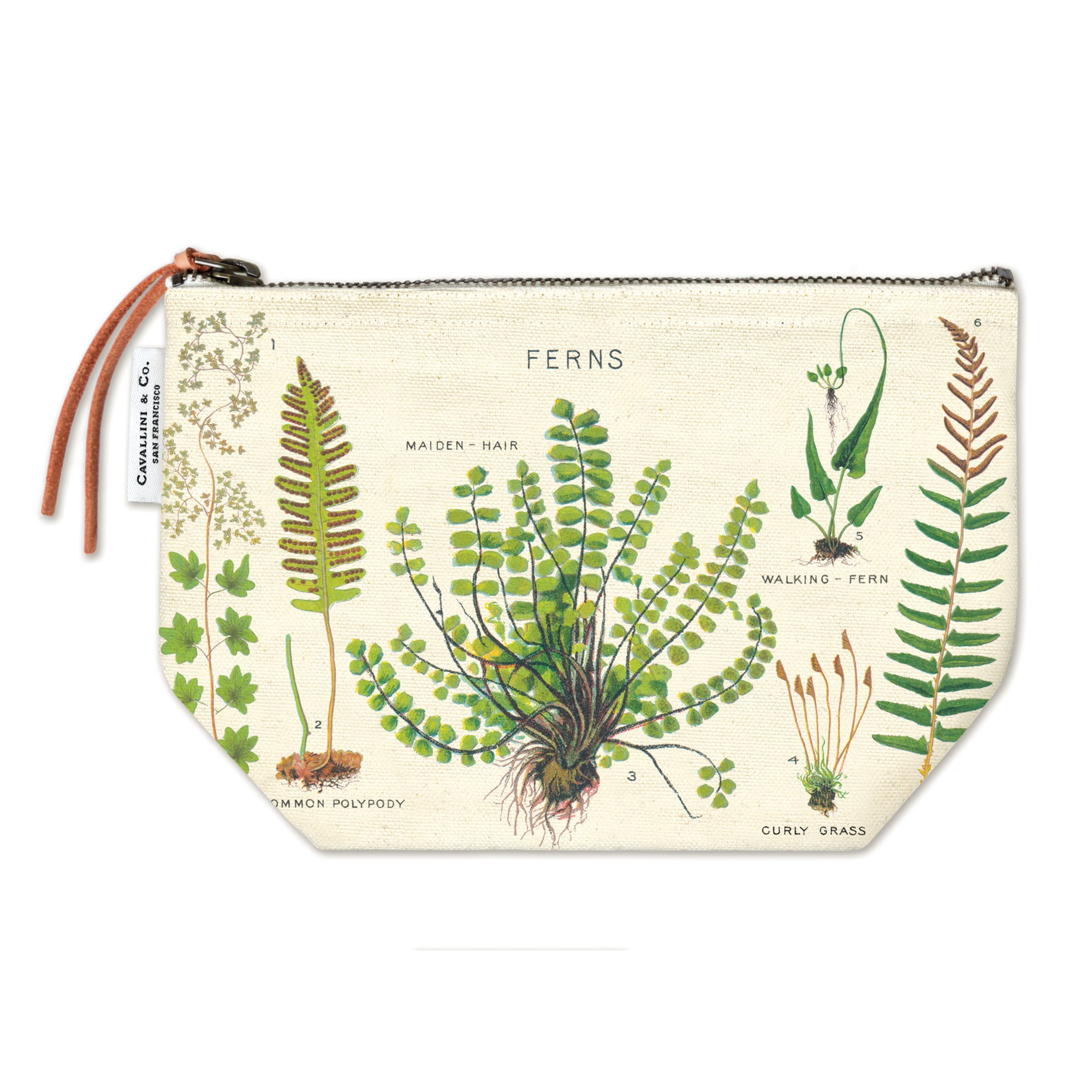 Fern Zippered Pouch | Getty Store