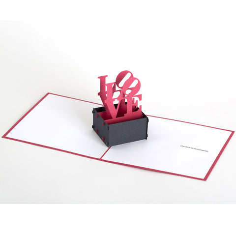 Pop-Up Valentine Note Card - LOVE