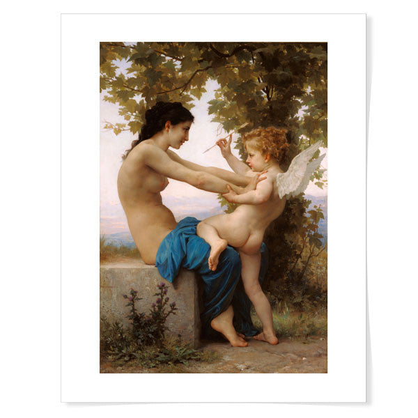 Bouguereau-A Young Girl Defending Herself Against Eros 11x14 inch Print | Getty Store