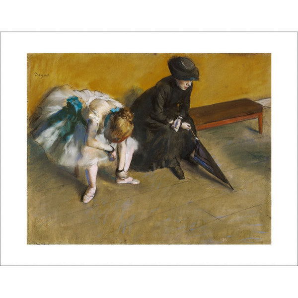 "Degas - <i>Waiting</i> 11"" x 14"" Print"