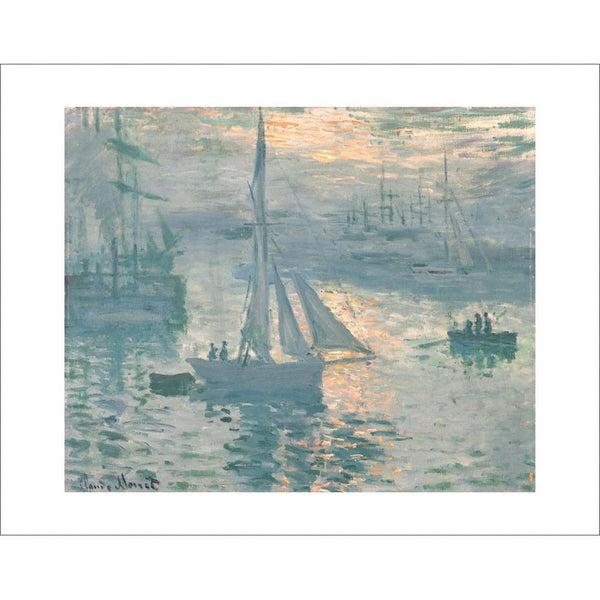"Monet - <i>Sunrise (Marine)</i> 11"" x 14"" Print"