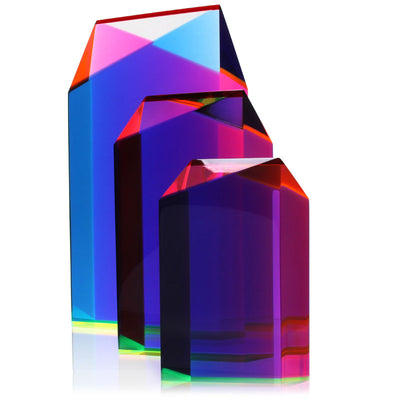 "Vasa Medium Parallelogram Cast Acrylic Sculpture (8"" H)"