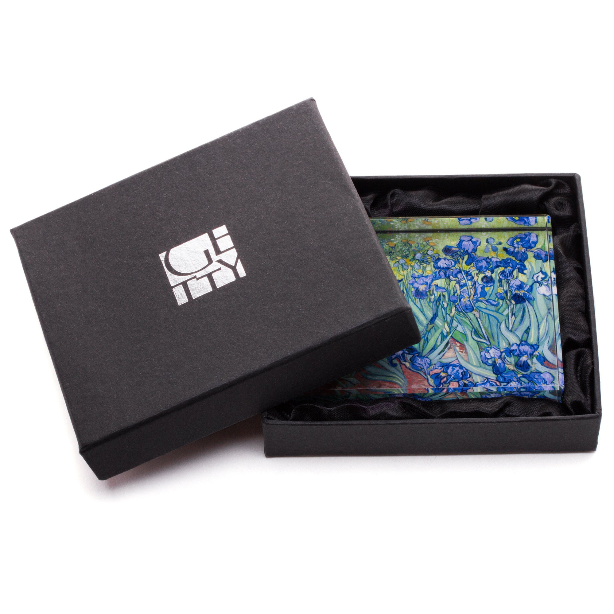Irises Paperweight in Gift Box  | Getty Store