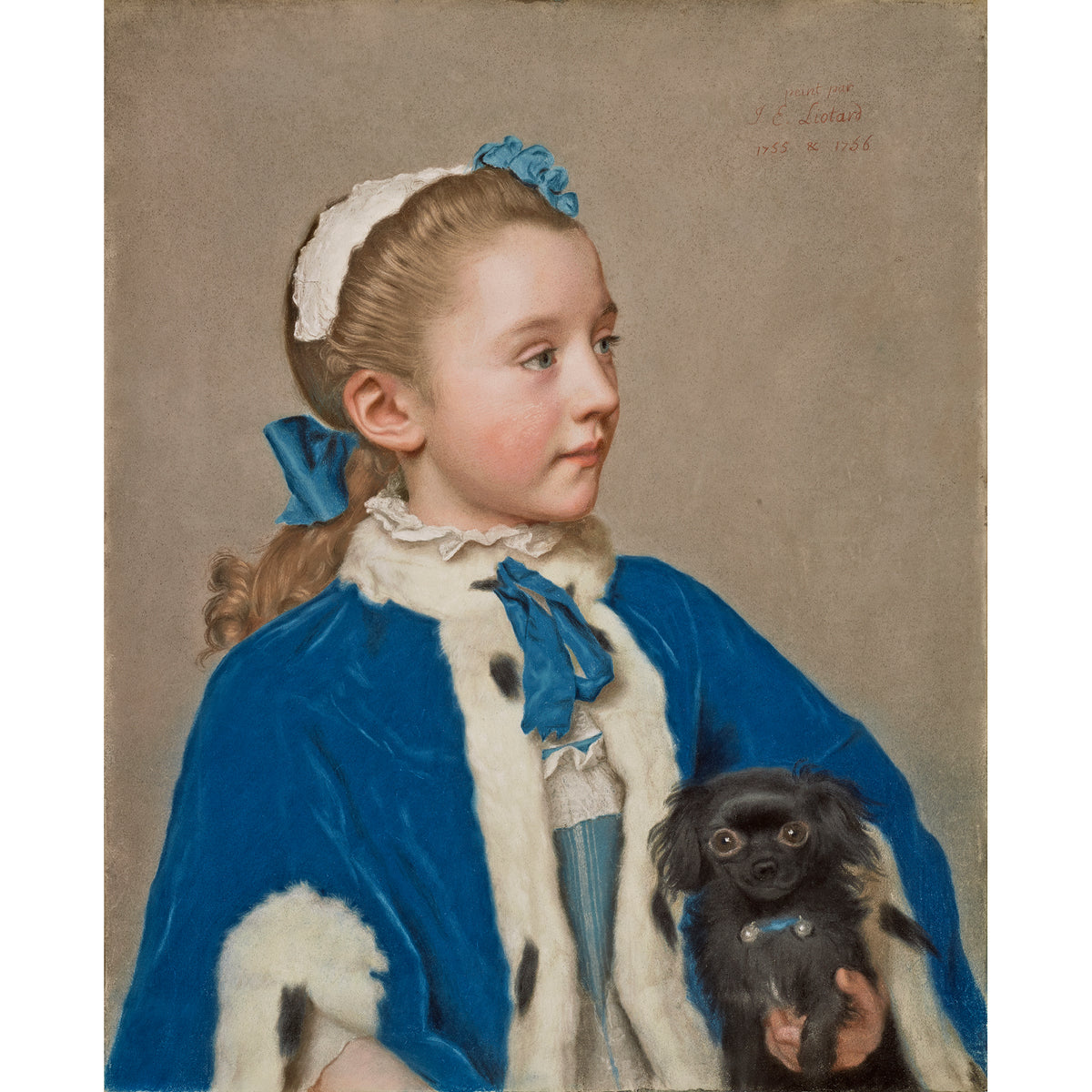 Plush Puppy from Portrait of Maria Frederike by Jean-Etienne Liotard-Painting used as inspiration for plush puppy  | Getty Store