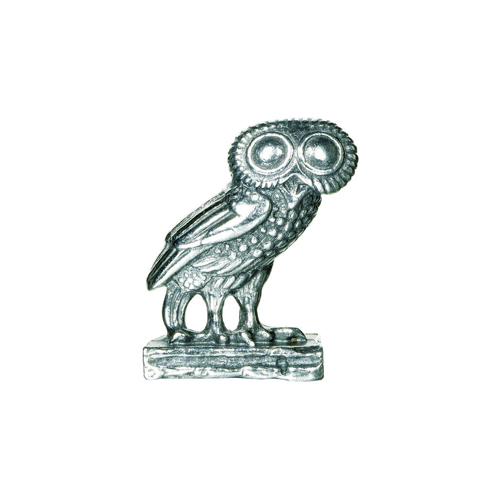 Athena's Greek Owl - Miniature Pewter Figure