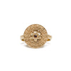 Gold Plated Etruscan Rosette Ring