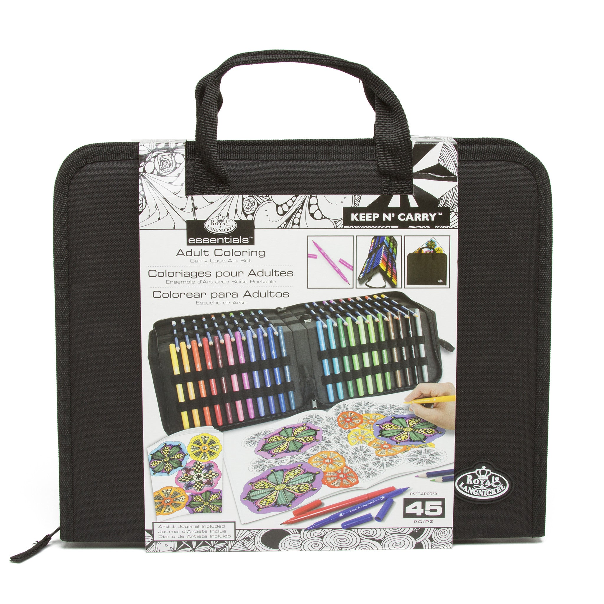 Art Set for Coloring in Carry Case – The Getty Store