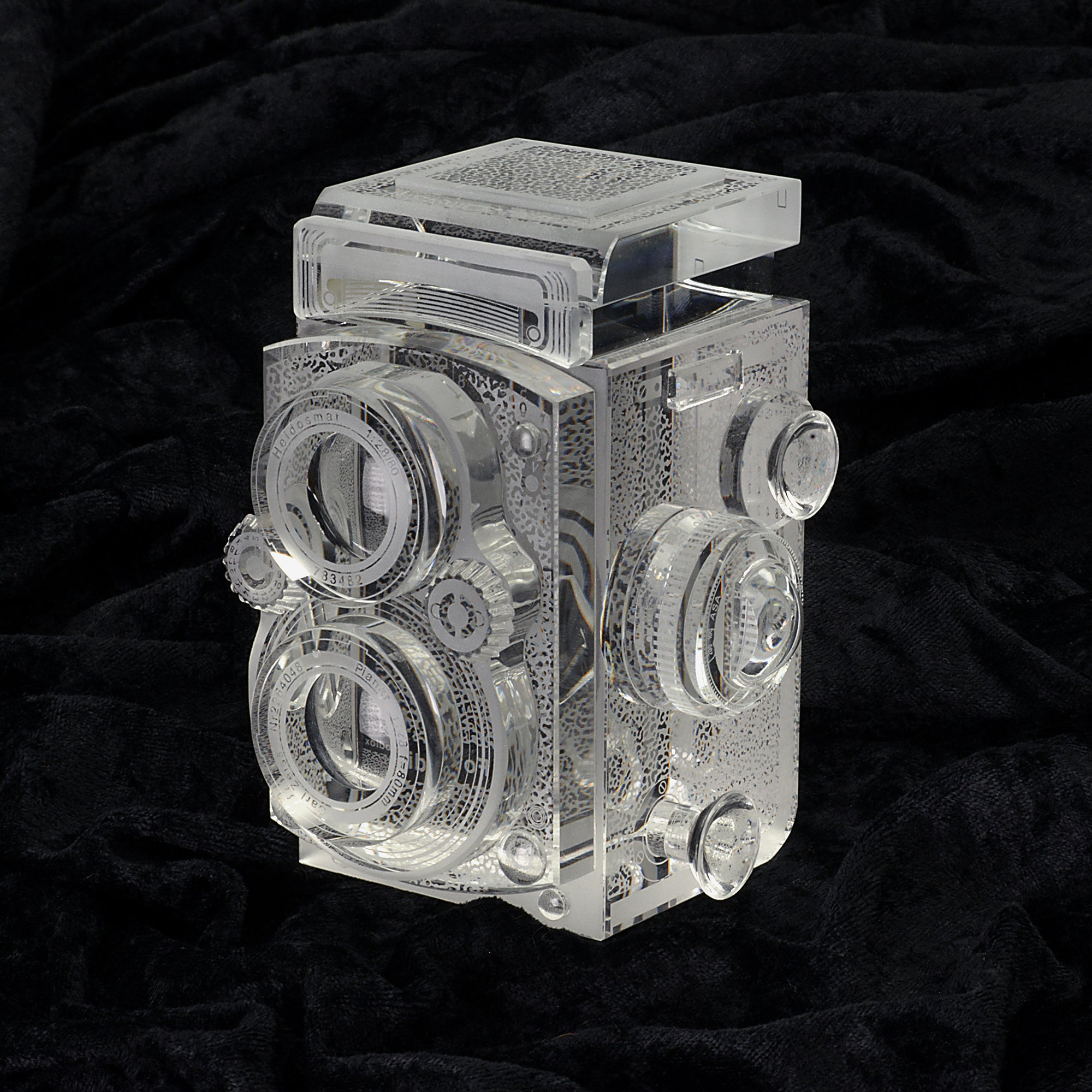 Crystal Glass Replica of the Rolleiflex 2.8 Camera