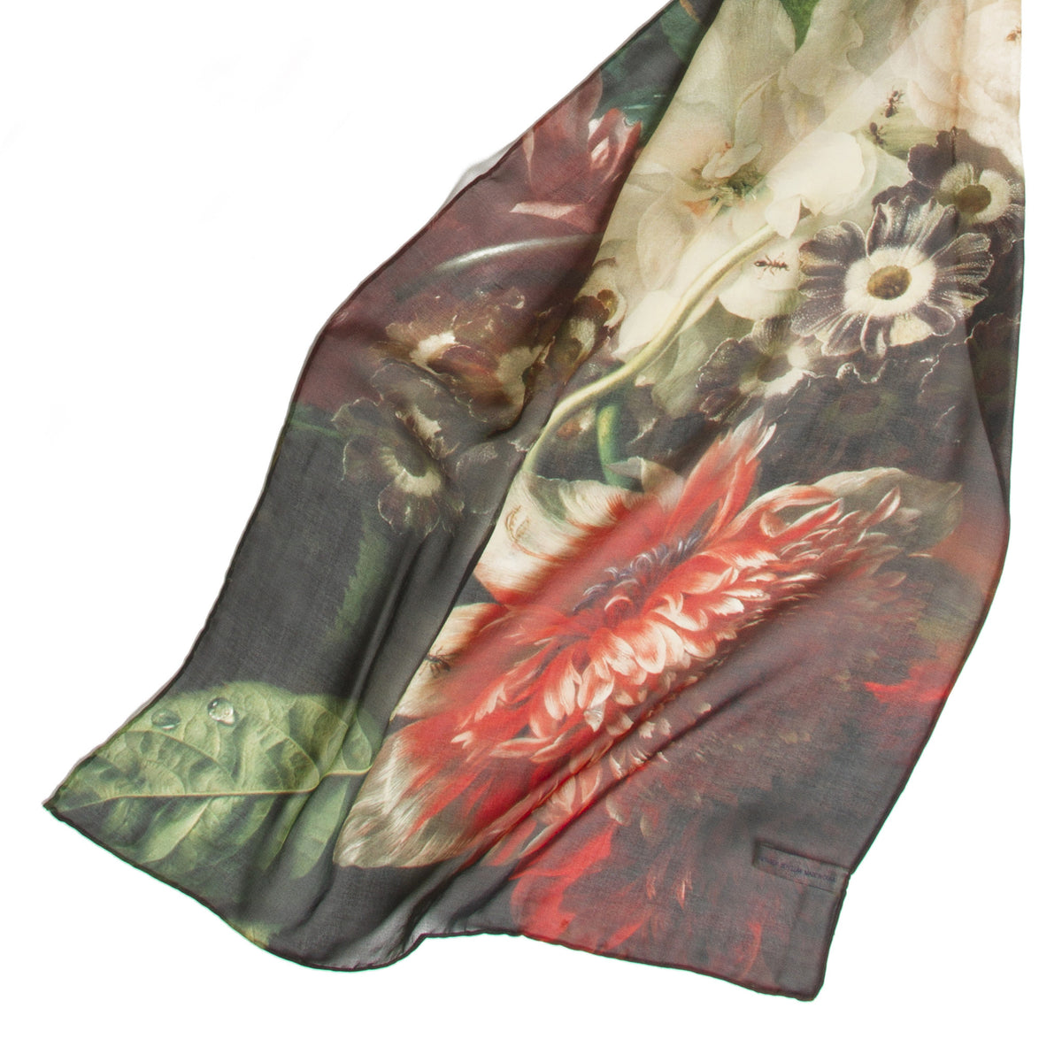 Vase of Flowers Silk Scarf detail of sheerness | Getty Store