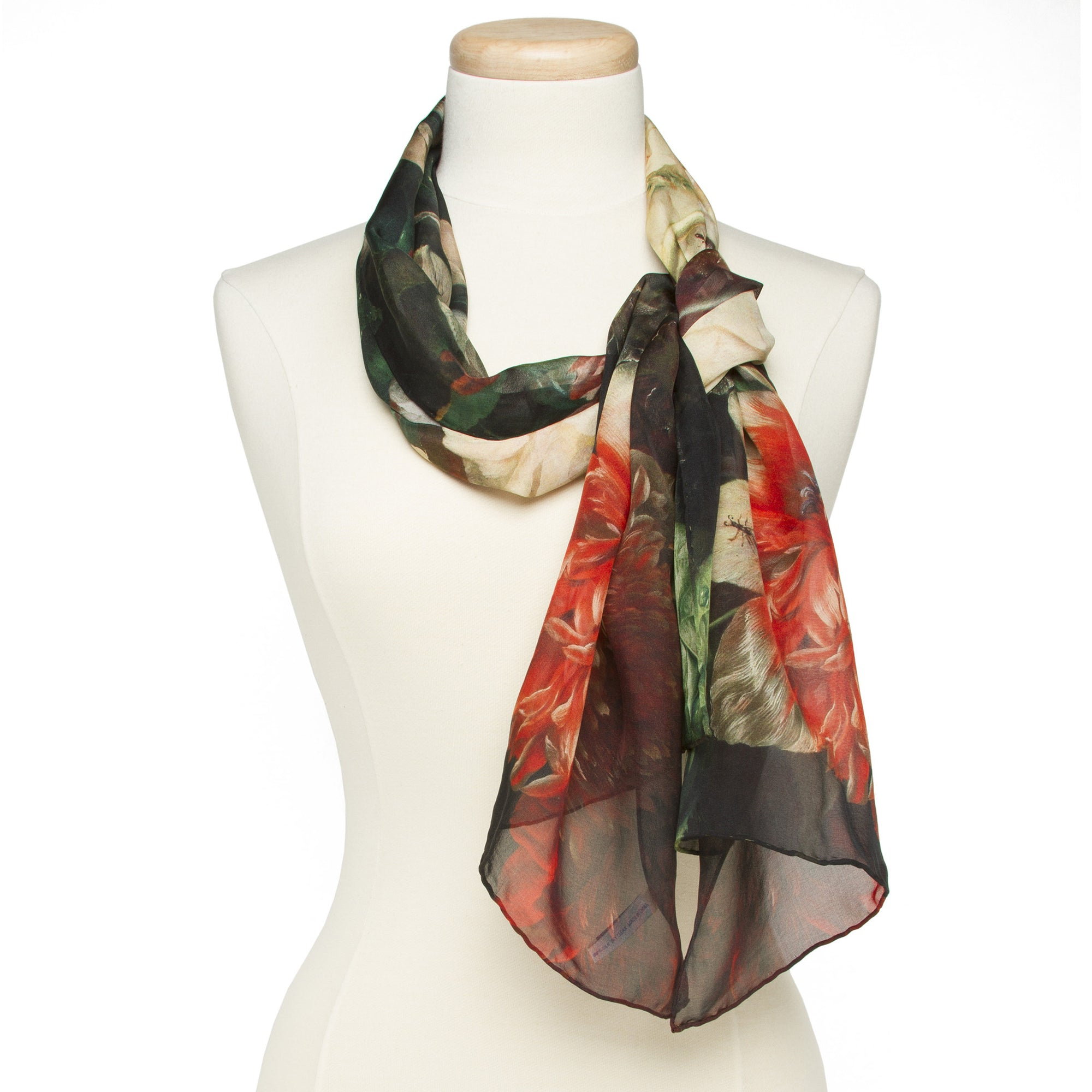 Vase of Flowers Silk Scarf | Getty Store