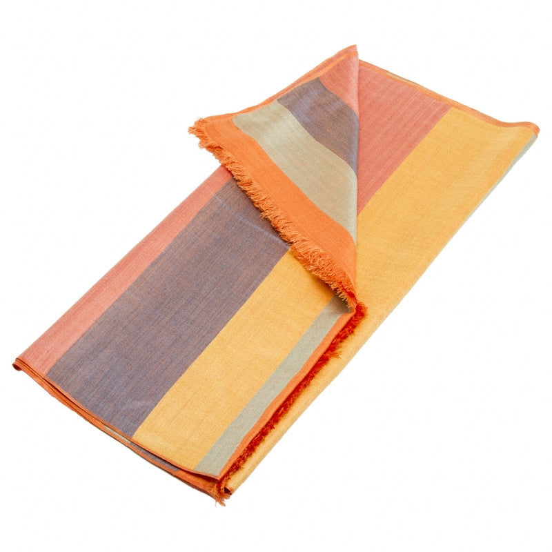 Degas Silk Shawl, Folded showing stripes | Getty Store