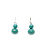 Turquoise Double Ball Drop Earrings