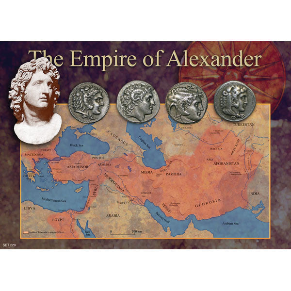 Alexander the Great's Empire Legacy Reproduction Coin Set