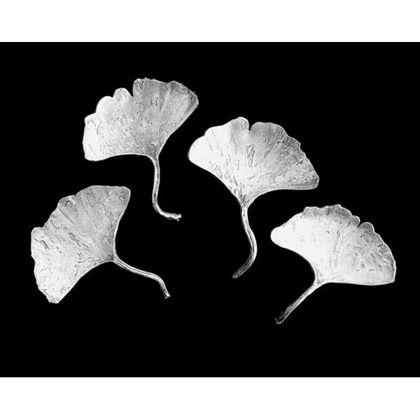 Medium Pewter Plate - Ginkgo Leaf