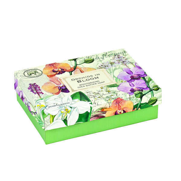 Orchids in Bloom Gift Box Soap Set