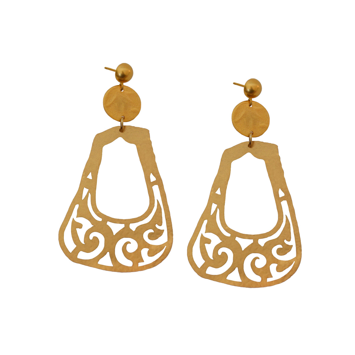Bactrian Ornament Statement Earrings
