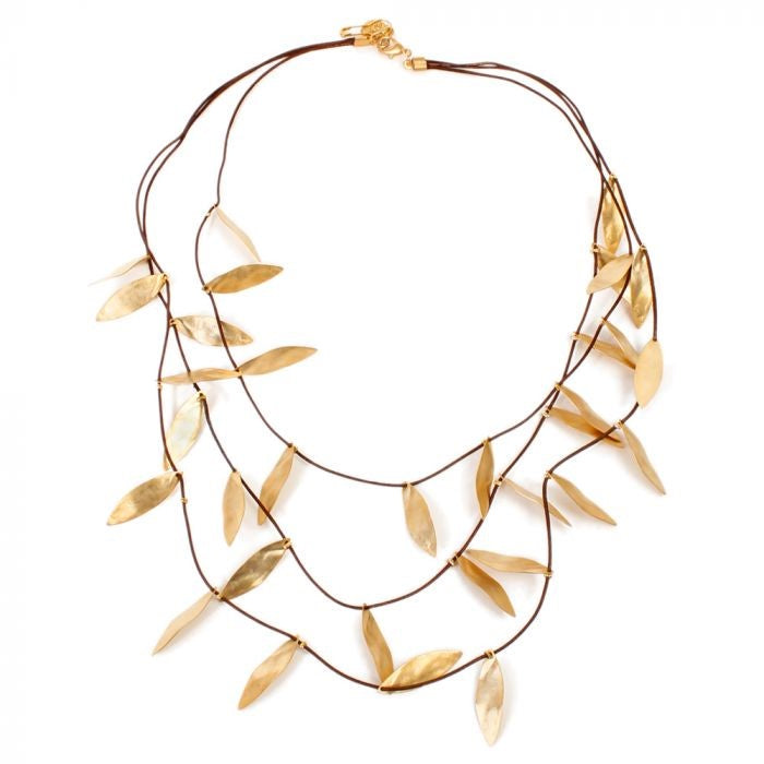 Layered Leaves Necklace | Getty Store