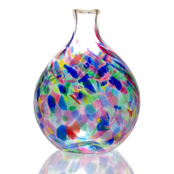 Hand Blown Glass Vase Multicolor The Getty Store