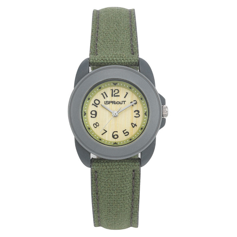Corn Resin and Organic Cotton Watch - Bamboo Face