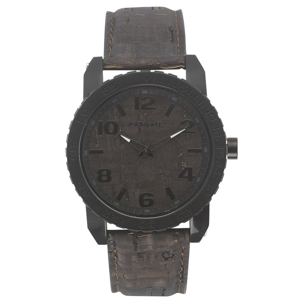 Corn Resin and Cork Watch - Black