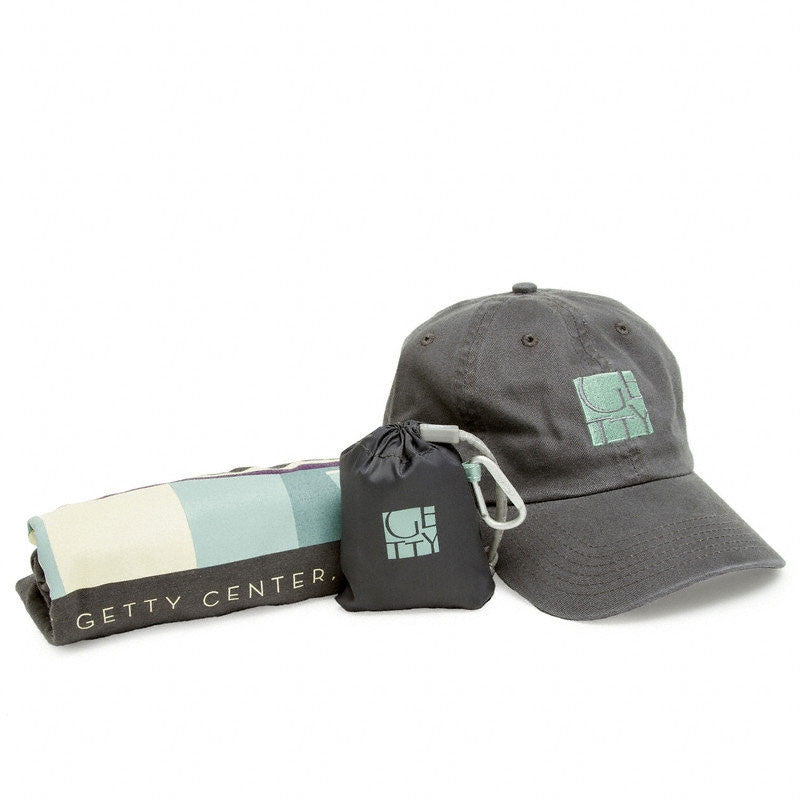 Exclusive Getty Gift Set - Getty Museum Entrance T-Shirt, Cap & Bag - Gray