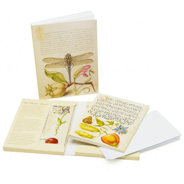 Exclusive Getty Gift Set - Mira Calligraphiae Monumenta Note Card Folio & Hoefnagel Sketchbook