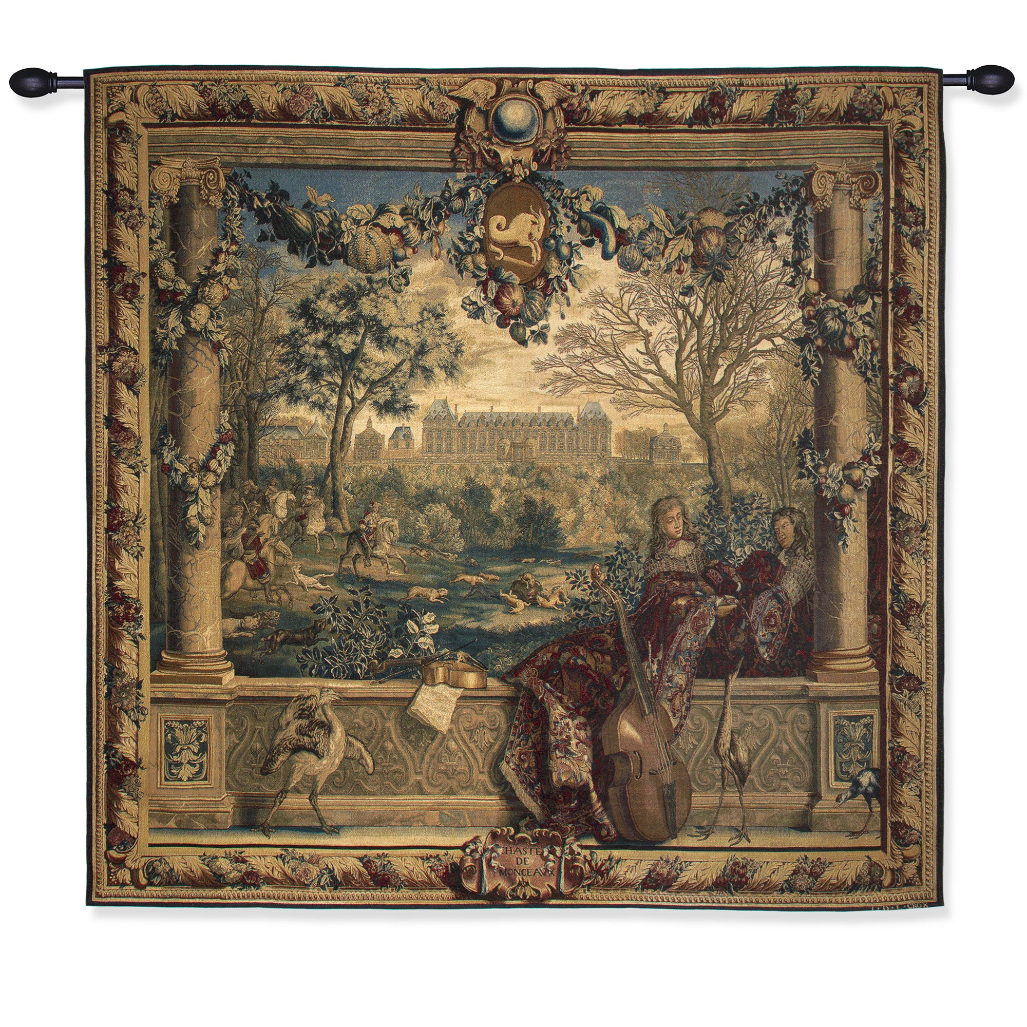 Chateau of Monceaux/Month of December-Tapestry Reproduction | Getty Store