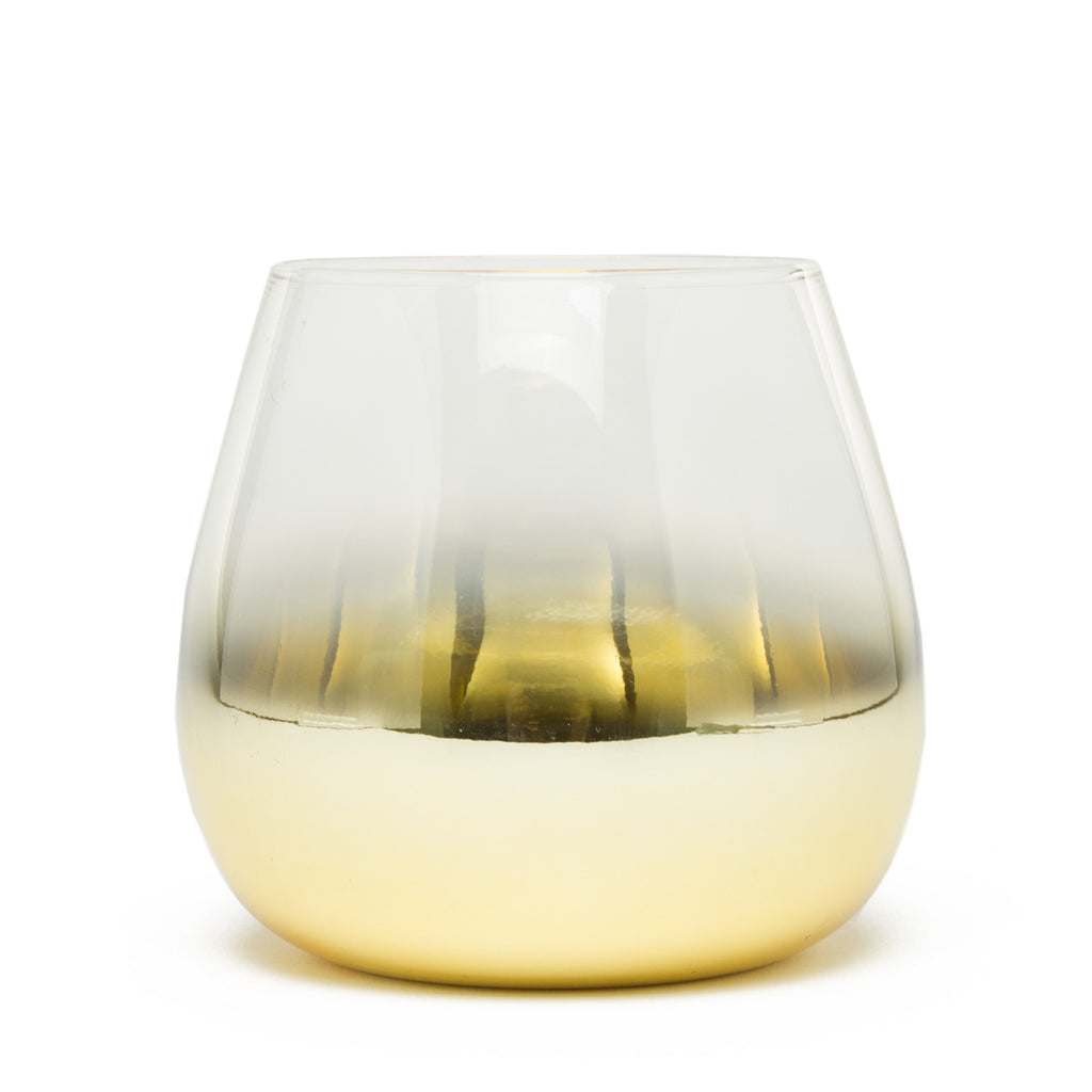 Gold-Dipped Cocktail Glass