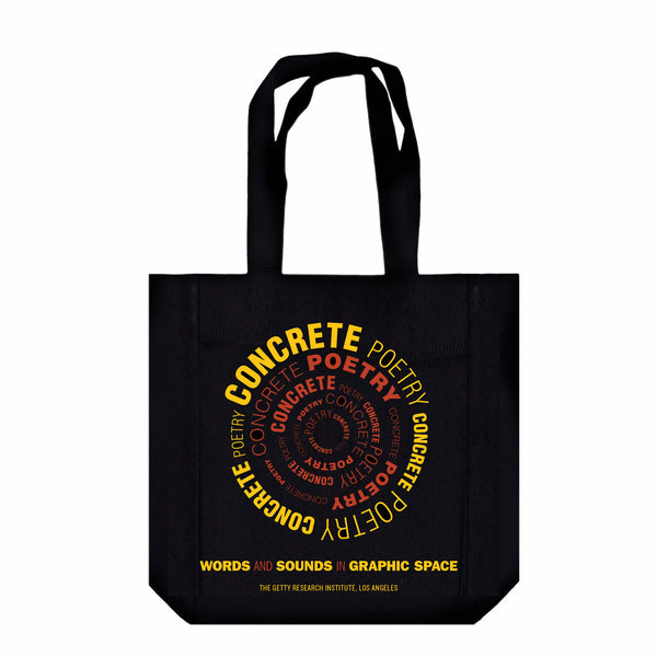 Concrete Poetry Canvas Tote
