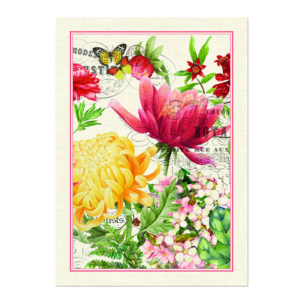 Morning Blossoms Tea Towel