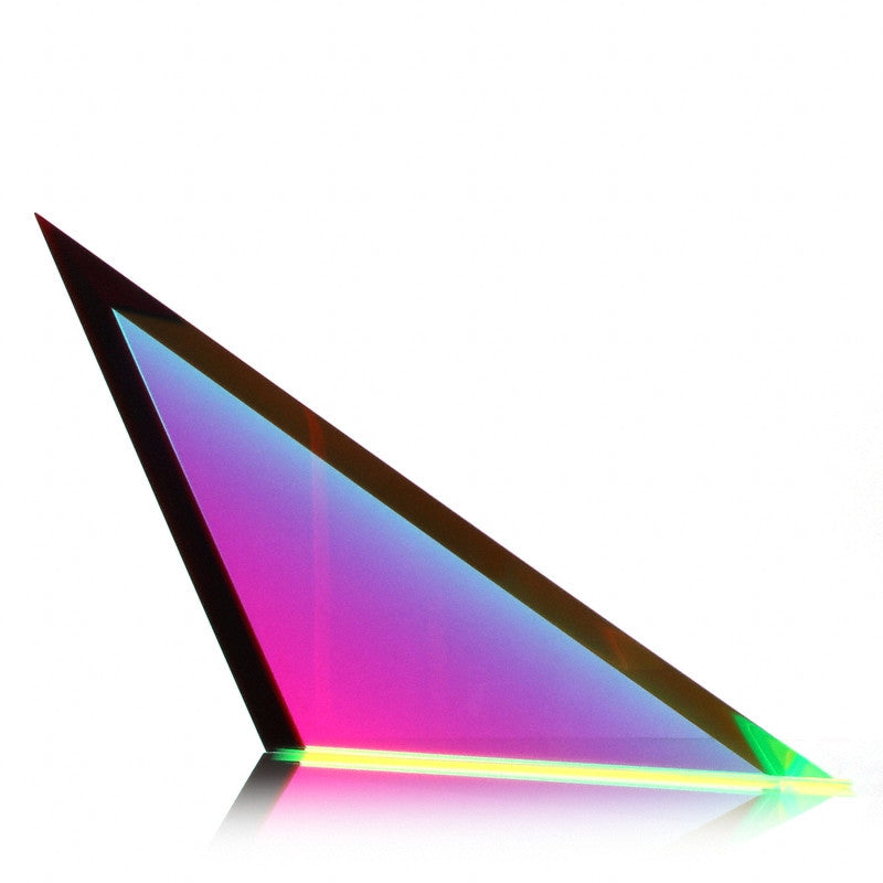 "Vasa Beveled Triangle #2 Cast Acrylic Sculpture (7"" H)"