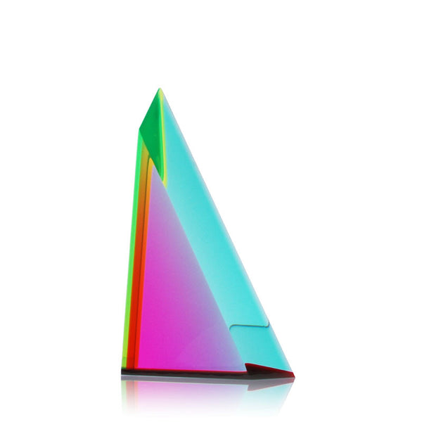 "Vasa Beveled Triangle #3 Cast Acrylic Sculpture (7"" H)"