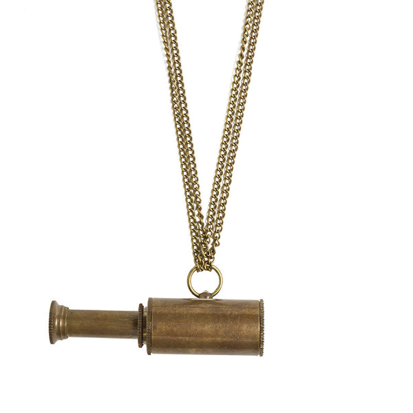 Antiqued Telescope Necklace