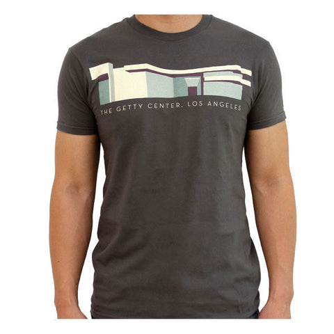 Getty Museum Entrance T-Shirt - Gray