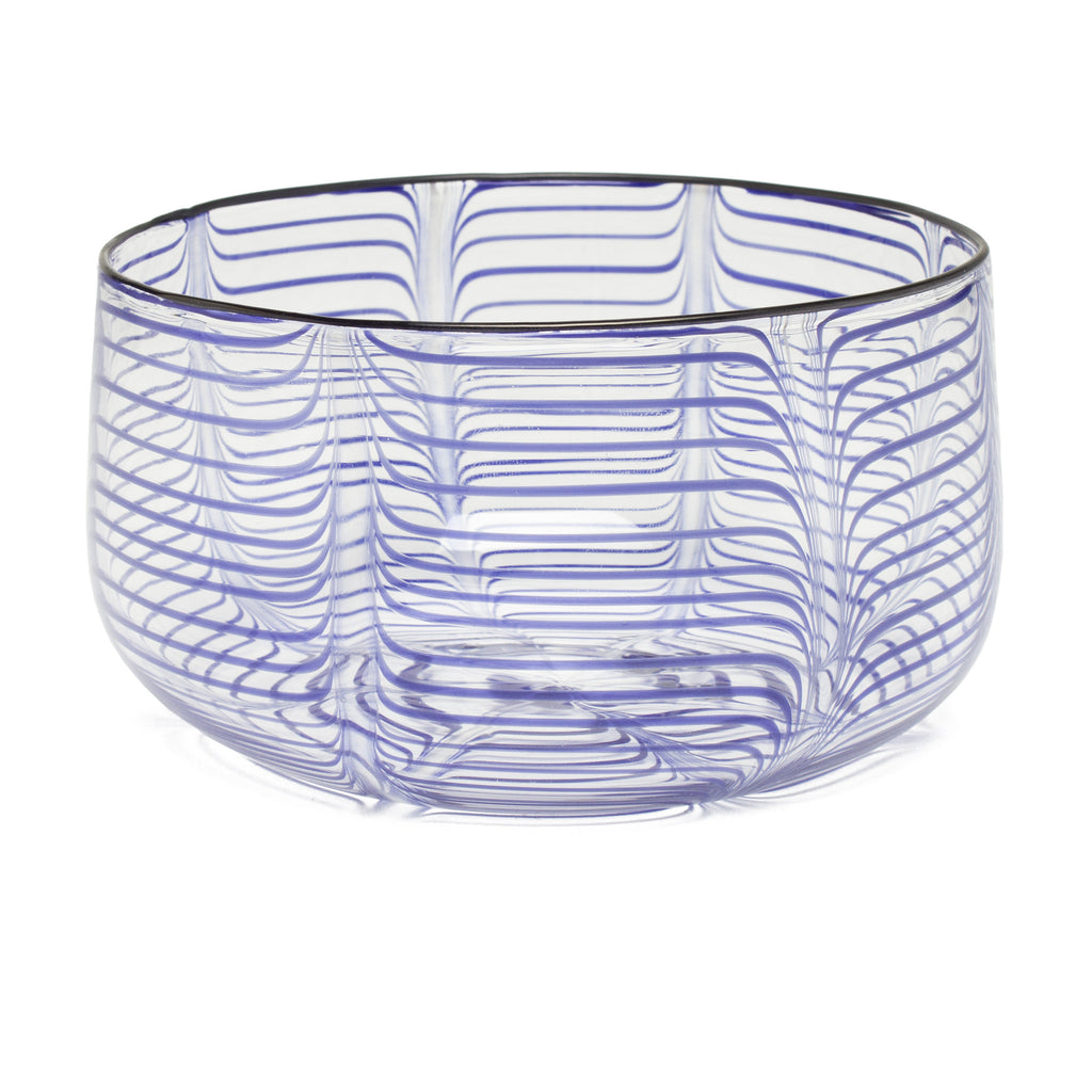 Decorative Bowl by Laurence Brabant Éditions - Large Blue