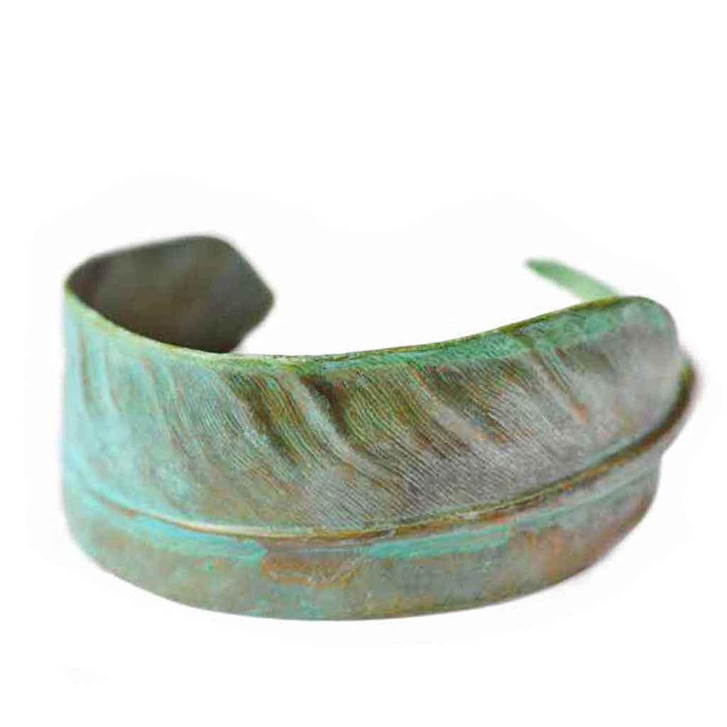 Feather Cuff with Patina