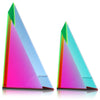 "Vasa Beveled Triangle #1 Cast Acrylic Sculpture (9"" H)"